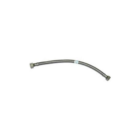 Conexion flexible acero inox macho 1/2 - hembra 3/8 - 30