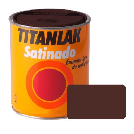 Esmalte titanlak 750 ml marron satinado
