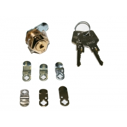 Cerradura buzon btv cartero kit-2 oro