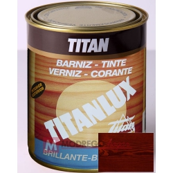 Barniz para madera 125 ml nogal titan brillante
