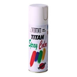 Pintura spray esmalte sintetico titan 400 ml blanco