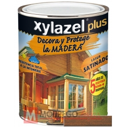 Barniz para madera 750 ml nogal xylazel plus satinado