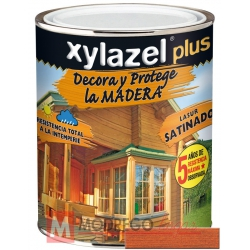 Barniz para madera 375 ml teca xylazel plus satinado