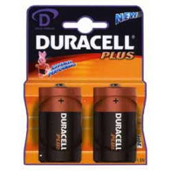 Pila duracell d plus power 2 unidades