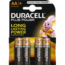 Pila duracell aa plus power lr06 4 unidades