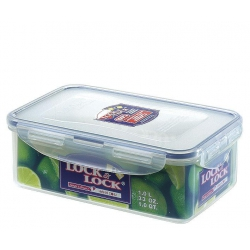 Taper de plastico rectangular lock&lock 20.5x13.4x6.9cm