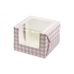 Caja cupcakes culpitt rosa vichy