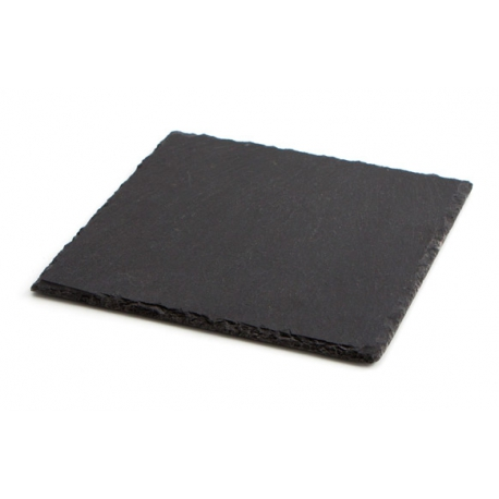 Bandeja pizarra 20x20 cm negro