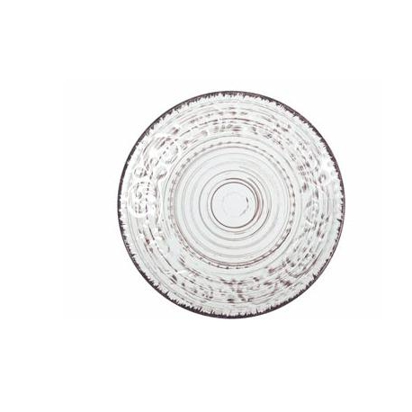 Plato postre stoneware courtyard blanco 21 cm