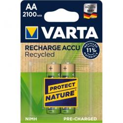 Pila recargable varta recycled aa 2100 mah 2 unidades