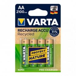 Pila recargable varta recycled aa 2100 mah 4 unidades