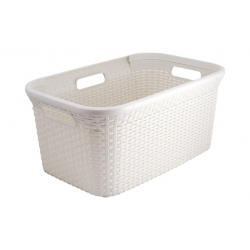 Cesta natural curver ropa style 45 litros blanco