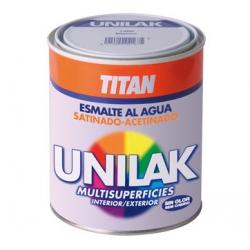 Esmalte al agua unilak titan satinado blanco 750 ml