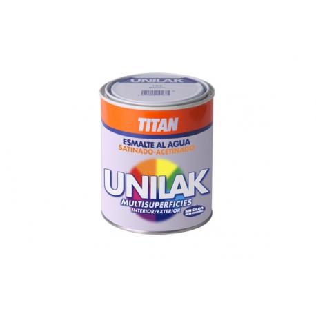 Esmalte al agua unilak titan satinado negro 750 ml
