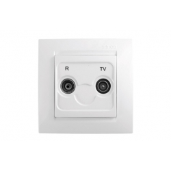 Toma r-tv intermedia simon serie 15 blanco