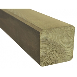 Poste de madera de pino silvestre 9 x 9 x 180 cm