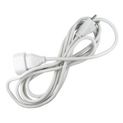 Prolongador cable 2 x 1mm blanco 10a-3 metros