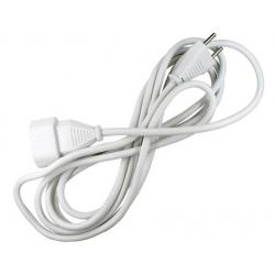 Prolongador cable 2 x 1mm blanco 10a-3 metros