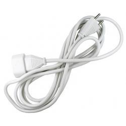 Prolongador cable 2 x 1mm blanco 10a -5 metros