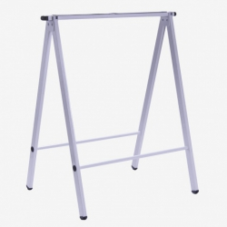 Caballete metalico plegable blanco 73 cm