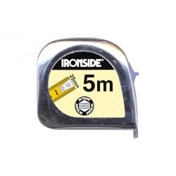 Flexometro abs/cromo con freno 5mx25mm