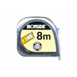 Flexometro abs/cromo con freno 8mx25mm