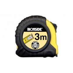 Flexometro abs/caucho con freno 3mx19mm ironside