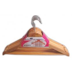Lote 6 perchas de madera barnizadas mondex
