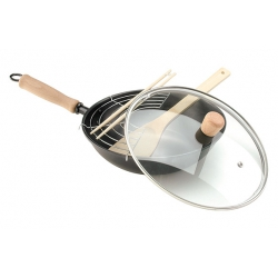 Wok oroley con tapa thai 28 cm induccion