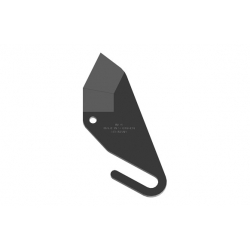 Cuchilla inox con teflon 35 mm para mod. 172030