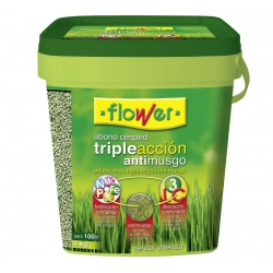 Abono cesped flower triple accion antimusgo 4 kg