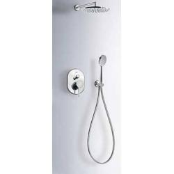 Monomando kit ducha tres alplus empotrado cromo 203.180.02