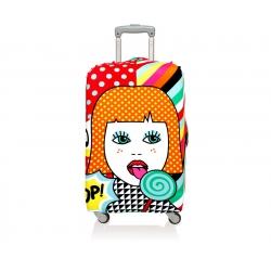 Funda maleta decorada 58x65 lollipop