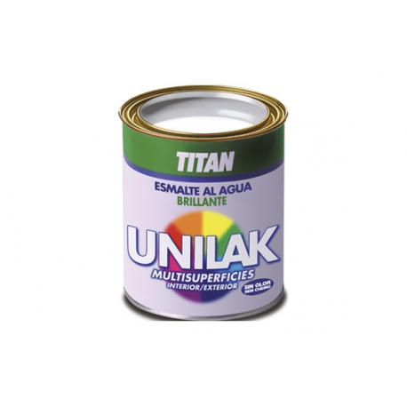 Esmalte al agua unilak titan blanco brillo 750 ml