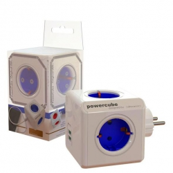 Ladron power cube con 2 usb azul1