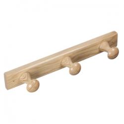 Colgador madera 3 perchas pino crudo 9903pcv