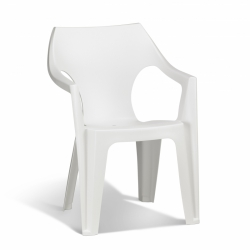 Silla resina dante high back blanca