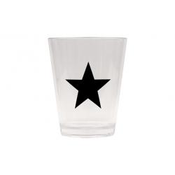 Vaso refresco acrilico estrella negra