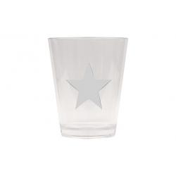 Vaso refresco acrilico estrella blanca aramis