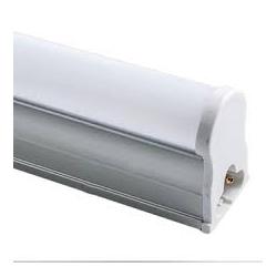 Regleta led con difusor matel 27 cm 6w luz fria led incluido color aluminio