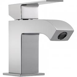 Monomando cuadro tres lavabo aireador maneta 124 mm cromado 106103