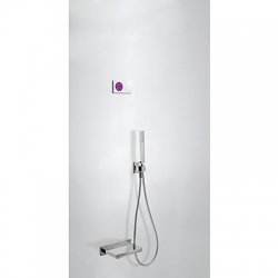 Termostatica kit baÑera electronico tres exclusive shower technology cromo 092.865.56