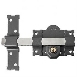 Cerrojo seguridad handlock 01 cilindro exterior pintado negro
