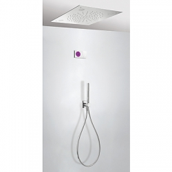 Termostatica kit ducha electronico tres exclusive shower technology cromoterapia cromo 092.865.66