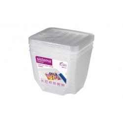 Organizador plastico 1,3 l