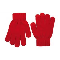 Guante touch movil rojo
