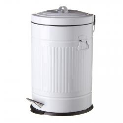 Cubo de basura retro 20 l blanco