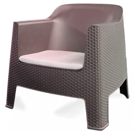 Sillon ratan resina in&out capuchino