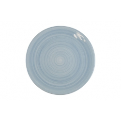 Plato llano porcelana home pottery fine china azul 25,2 cm