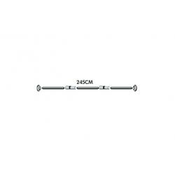 Barra modulable h2o cortina de baño inox249087